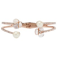 Kate Spade New York Flower Open Double Cuff Rose Gold