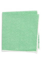 Southern Tide Sagamore Spots Cotton And Silk Pocket Square Green