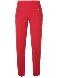 Moschino Slim Track Trousers Polyester Triacetate Red