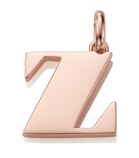 Monica Vinader Rose Gold Capital Z Pendant Female Pink
