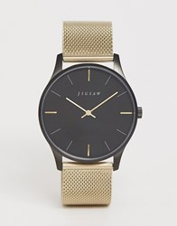 Jigsaw Mesh Watch In Gold