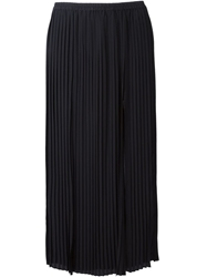 Michael Michael Kors Long Pleated Skirt Blue