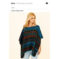Rico Chunky Melange Poncho And Jacket Knitting Pattern 266
