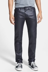 Naked And Famous 'Super Skinny Guy' Skinny Fit Jeans Wax Coated Indigo Stretch Blue