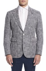Strong Suit By Ilaria Urbinati Ignatius Slim Fit Linen And Cotton Blazer Navy White