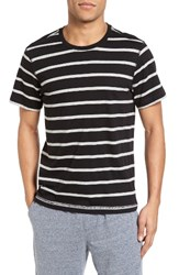 Daniel Buchler Men's Stripe T Shirt