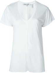 Helmut Lang V Neck T Shirt White