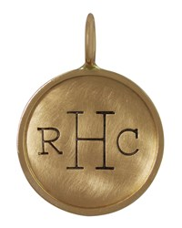 14K Yellow Gold Uppercase Monogram Charm Heather Moore