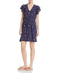 Rebecca Taylor Mia Floral Print Dress Dark Navy