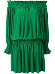 Norma Kamali Peasant Dress Women Polyester Spandex Elastane S Green