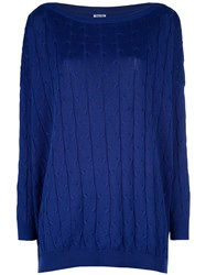 Romeo Gigli Vintage Cable Knit Sweater Blue