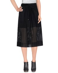 American Retro Skirts 3 4 Length Skirts Women Black