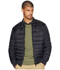 Members Only Down Blend Quilted Puffer Jacket Black Coat