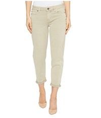 Liverpool Riley Relaxed Crop In Stretch Peached Twill In Pure Cashmere Pure Cashmere Women's Jeans Gray