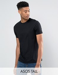 Asos Tall T Shirt With Crew Neck In Black Black