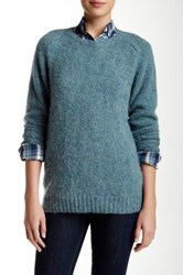 Trovata Classic Wool Sweater Blue