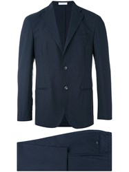 Boglioli Fitted Classic Suit Men Acetate Cupro Virgin Wool 50 Blue