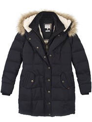 Fat Face Cumbria Long Puffer Coat Phantom