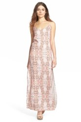 Whitney Eve 'Sinai' Scoop Back Maxi Dress Juniors Pink