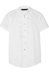 Marc By Marc Jacobs Hailee Ruffled Cotton Poplin Shirt