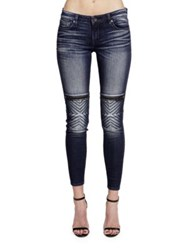 Cult Of Individuality Moto Mid Rise Jeans Blue
