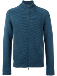Loro Piana Zip Up Cardigan Blue