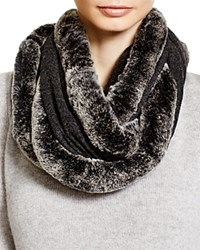 Magaschoni Fur Infinity Scarf Charcoal