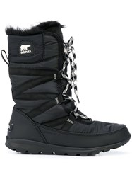 Sorel Lace Up Lined Boots Black