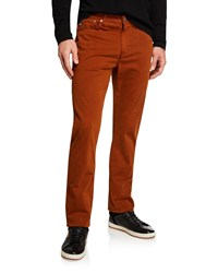 Ag Adriano Goldschmied Everett Slim Straight Twill Pants Brown