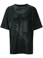 Juun.J Distressed Embroidery T Shirt Black
