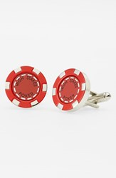 Link Up Men's 'High Stakes Poker Chip' Cuff Links