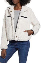 Thread And Supply Soho Faux Shearling Jacket Creme