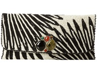 Mary Frances On The Right Path Clutch Black White Handbags