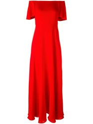 Valentino Off The Shoulder Gown Red