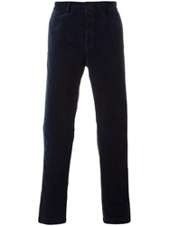 Massimo Alba Velour Trousers Blue