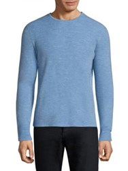 Rag And Bone Gregory Crewneck Sweater Denim Blue