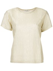 Each X Other Ribbed T Shirt Women Polyester Viscose Xs Metallic