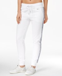 Calvin Klein Performance Fleece Jogger Pants White Combo
