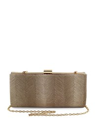 Sondra Roberts Metallic Wave Clutch Gold