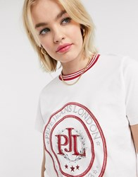 Pepe Jeans Crest T Shirt In White