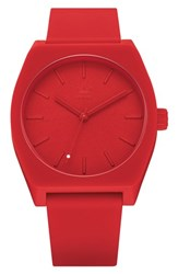 Adidas Process Silicone Strap Watch 38Mm Red