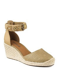 Sperry Espadrille Wedge Sandals Valencia Closed Toe Metallic