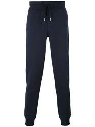 Moncler Slim Fit Track Pants Blue