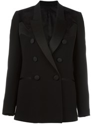 Neil Barrett Geometric Panel Insert Blazer Black