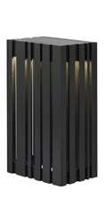 Lbl Lighting Uptown Small Outdoor Sconce Lw642blledw Black Silver