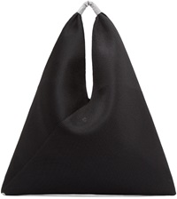 Mm6 Maison Margiela Black Mesh And Neoprene Triangle Tote