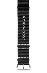 Men's Jack Mason Brand Nylon Nato Strap 22Mm Black