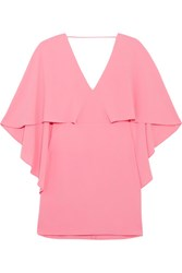 Halston Heritage Crepe Mini Dress Pink
