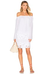 Bcbgeneration Off The Shoulder Dress White