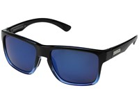 Suncloud Polarized Optics Rambler Black Blue Blue Mirror Polycarbonate Lens Athletic Performance Sport Sunglasses